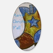 Merry Christmas Y'all Sticker (Oval)
