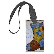 Merry Christmas Y'all Luggage Tag