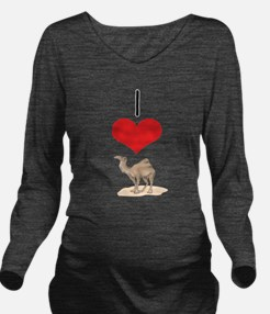 heart-camel.png Long Sleeve Maternity T-Shirt