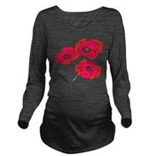 poppy.png Long Sleeve Maternity T-Shirt