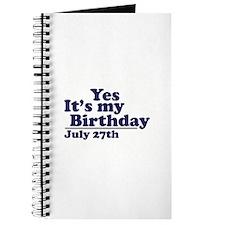 July 27 Birthday Journal