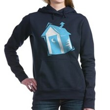 outhouse,blue.png Hooded Sweatshirt