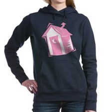 outhouse,pink.png Hooded Sweatshirt