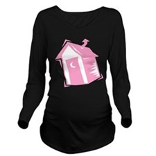 outhouse,pink.png Long Sleeve Maternity T-Shirt