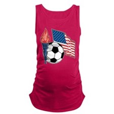 flag,torch,soccer-ball.png Maternity Tank Top