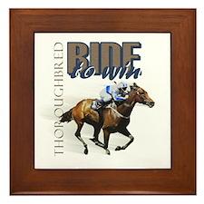 Ride To Win 2 Framed Tile