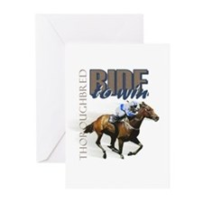 Ride To Win 2 Greeting Cards (Pk of 10)