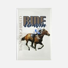 Ride To Win 2 Rectangle Magnet