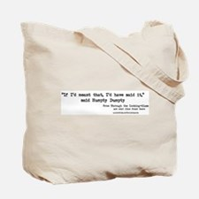 """""""People"""" Quote on BACK -  Tote Bag"""