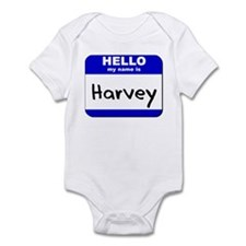 hello my name is harvey  Infant Bodysuit