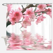 Flowers Water Reflection Shower Curtain