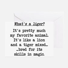 What's a Liger (blk) - Napoleon Greeting Cards