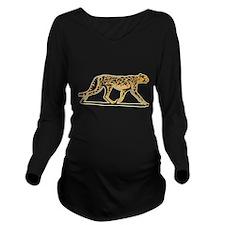 cheetah-running,png.png Long Sleeve Maternity T-Sh