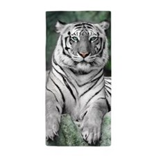 White Tiger Beach Towel
