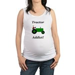 Green Tractor Addict Maternity Tank Top
