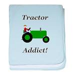 Green Tractor Addict baby blanket