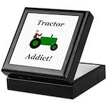 Green Tractor Addict Keepsake Box
