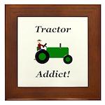 Green Tractor Addict Framed Tile