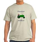Green Tractor Addict Light T-Shirt