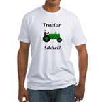 Green Tractor Addict Fitted T-Shirt