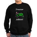 Green Tractor Addict Sweatshirt (dark)
