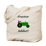 Green Tractor Addict Tote Bag