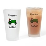 Green Tractor Addict Drinking Glass