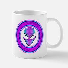 Pink N Aqua Stargate Alien Mug