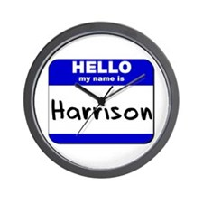 hello my name is harrison  Wall Clock