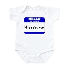 hello my name is harrison  Infant Bodysuit