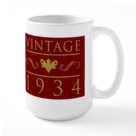 1934 Vintage Birth Year Large Mug