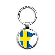 Swede Home Minnesota Round Keychain