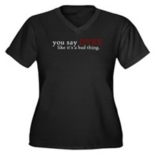Bad Thing Women's Plus Size V-Neck Dark T-Shirt