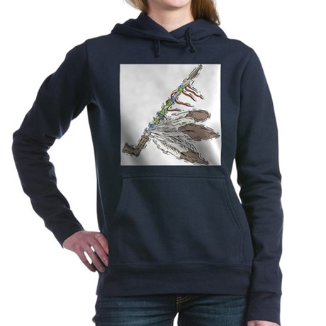indian feather peace pipe copy.jpg Hooded Sweatshi
