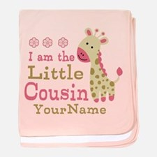 I am the Little Cousin Personalized baby blanket
