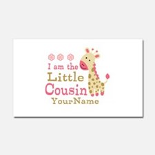 I am the Little Cousin Personalized Car Magnet 20