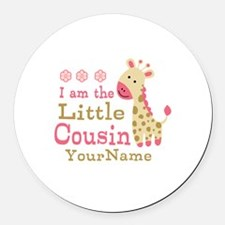 I am the Little Cousin Personalized Round Car Magn