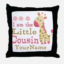 I am the Little Cousin Personalized Throw Pillow