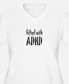Plus-size V-neck T for the woman with ADHD