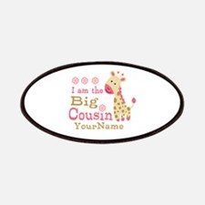 Pink Giraffe Big Cousin Personalized Patches
