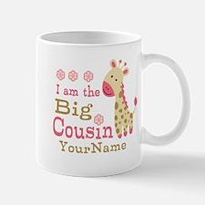 Pink Giraffe Big Cousin Personalized Mug