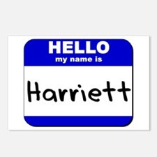 hello my name is harriett  Postcards (Package of 8