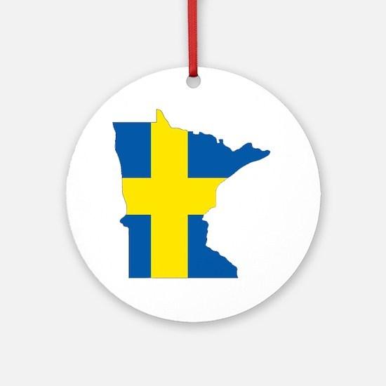 Swede Home Minnesota Ornament (Round)