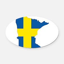 Swede Home Minnesota Oval Car Magnet