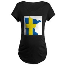 Swede Home Minnesota Maternity T-Shirt