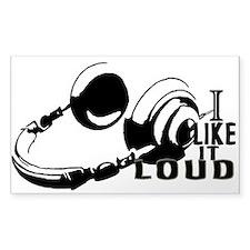 I Like It LOUD Headphones! Decal