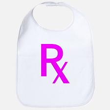 Pink Rx Symbol Bib