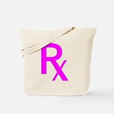 Pink Rx Symbol Tote Bag