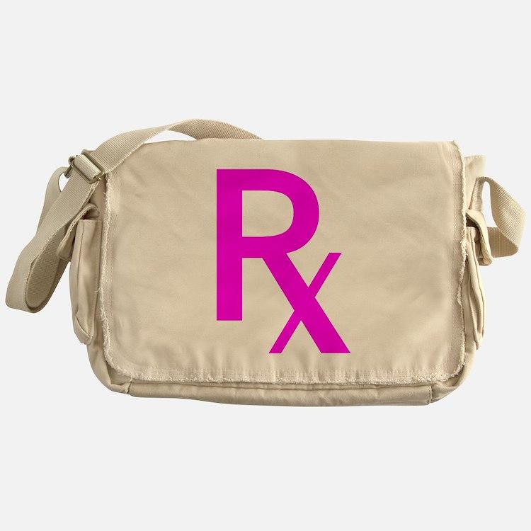 Pink Rx Symbol Messenger Bag