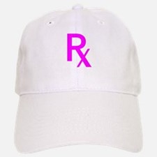 Pink Rx Symbol Baseball Baseball Cap